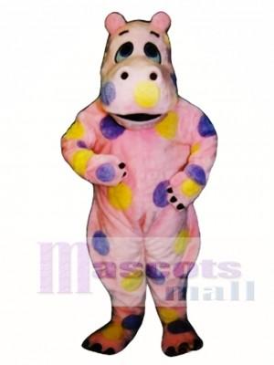 Cute Polka-dot Hippo Mascot Costume Animal