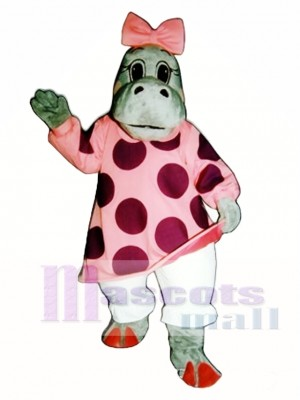 Cute Hilary Hippo Mascot Costume Animal