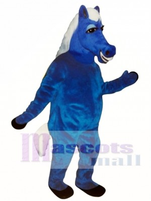 Cute Blue Horace Horse Mascot Costume Animal