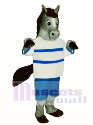 Cute Peter Pony with Shirt & Pants Mascot Costume Animal