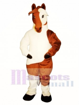 Cute Old Paint Horse Mascot Costume Animal