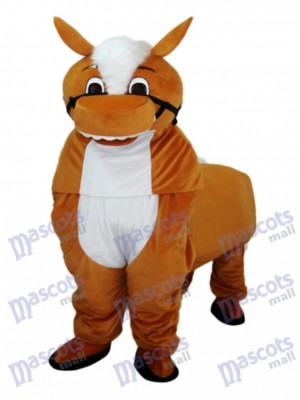 Small Brown Horse Mascot Adult Costume Animal