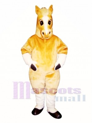 Cute Palomino Horse Mascot Costume Animal