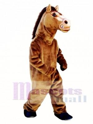 Cute Fierce Stallion Horse Mascot Costume Animal