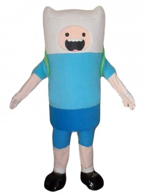 Adventure Time Finn the Human Blue Boy Mascot Costumes Cartoon