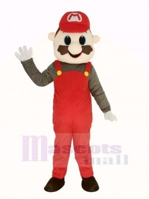 Super Red Mario Mascot Costume Cartoon
