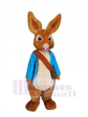 Peter Rabbit with Blue Clothes Mascot Costumes Cartoon