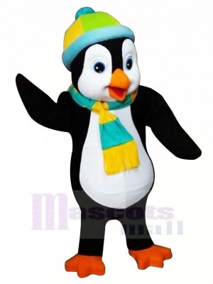 Penguin with Colorful Hat Mascot Costumes Cartoon