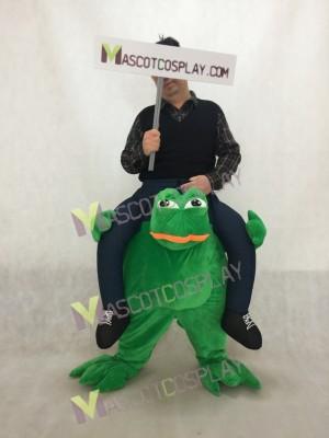 Piggy Back Sad Frog Carry Me Frog Mascot Costume Halloween Fancy Dress
