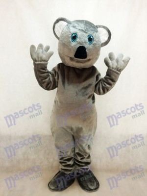 Cute Grey Koala Bear Mascot Costume