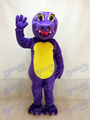 Cute Purple Dunkan Dragon Mascot Costume