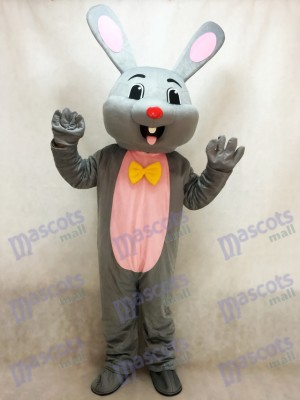 Easter Grey Bunny Rabbit Hare Mascot Costume