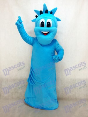 Blue Statue of Liberty Mascot Costume