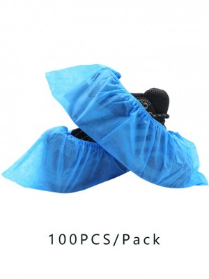 In Stock 100 PCS Protection Blue Thick Non-Woven Shoe Cover