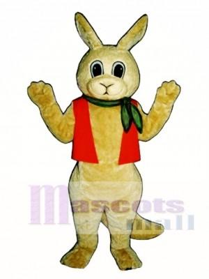 Aussie Roo Kangaroo with Neckerchief & Vest Mascot Costume Animal
