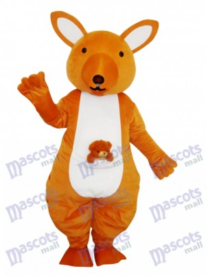 Yellow Kangaroo Mascot Adult Costume Animal