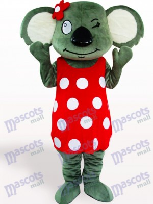 Red Skirt Koala Adult Mascot Costume