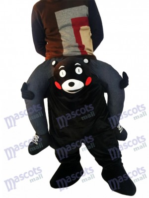 Piggyback Kumamon Carry Me Ride on Black Bear Mascot Costume