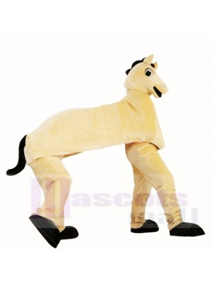 Cute Two Man Horse Mascot Costumes Cartoon