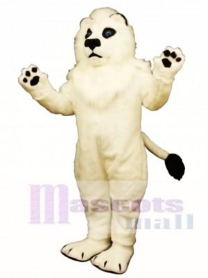 White Lion Mascot Costume Animal