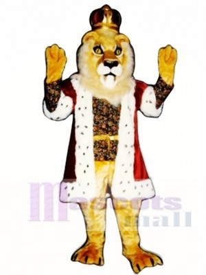 Cute King Lionel Lion Mascot Costume Animal