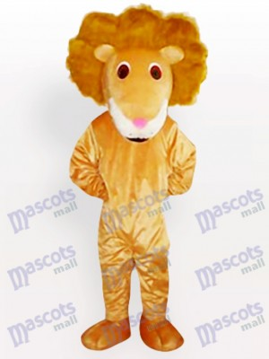 Lion of Curving Hair Animal Mascot Costume