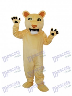 Beardless Cougar Mascot Adult Costume Animal