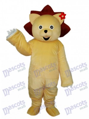 Golden Lion Mascot Adult Costume Animal