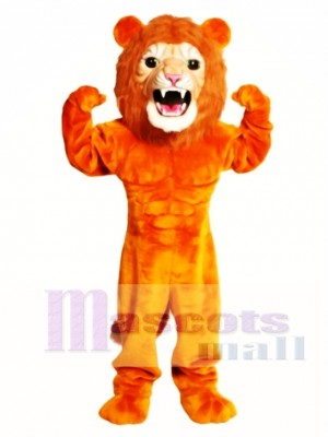 Cute Super Power Cat Lion Mascot Costume Animal