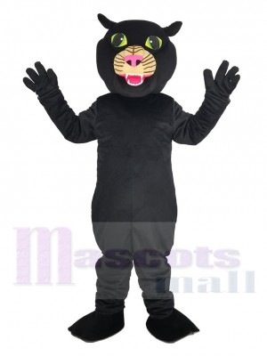 Black Panther with Pink Nose Mascot Costume Animal