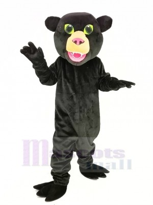 Black Panther with Green Eyes Mascot Costume Animal