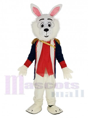 Colonel Wendell Rabbit with Lace Mascot Costume Animal