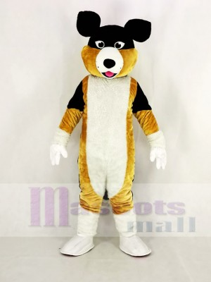 Black Brown and White Shepherd Dog Mascot Costume Cartoon