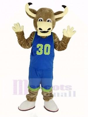 Texas Longhorns Bull in Blue Sportswear Mascot Costume