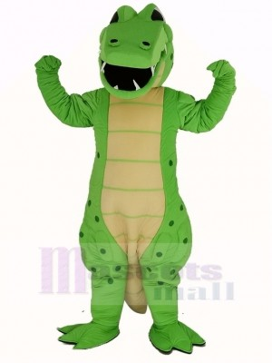 Power Green Crocodile Mascot Costume Animal