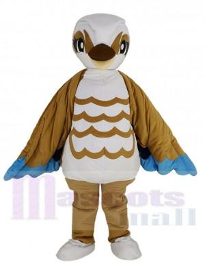 Brown and White Bird Mascot Costume