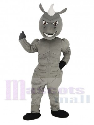 Power Muscles Gray Horse Mascot Costume