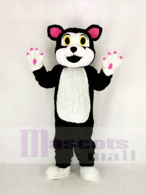 Cute Cat with Green Eyes Mascot Costume Cartoon