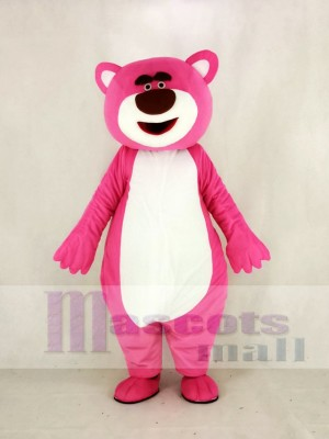Pink Bear Mascot Costume Cartoon