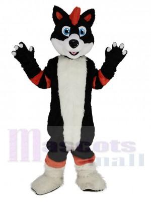 Orange and Black Husky Dog Fursuit Mascot Costume Animal