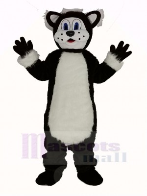 Black and White Fat Cat Mascot Costumes Animal