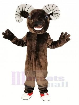 Dark Brown Sport Ram Mascot Costume Animal
