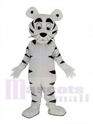 Funny White Tiger Mascot Costume Animal