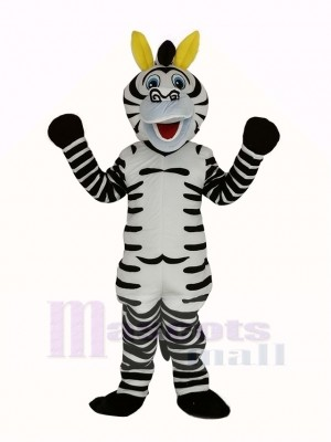 Happy Zebra Mascot Costume Animal
