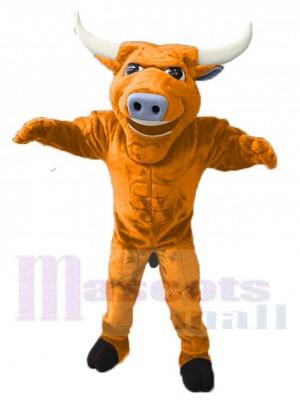 Strong Yellow Bull Mascot Costume Animal