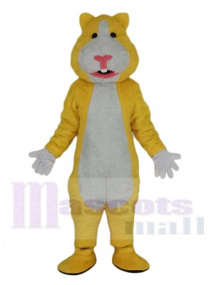 Yellow and White Hamster Mascot Costume