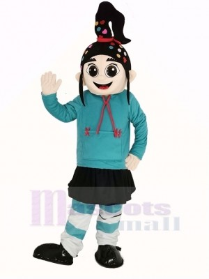 Girl Vanellope Mascot Costume Cartoon