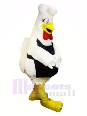 Cute White Chicken Mascot Costumes Cartoon