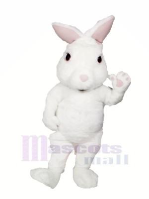 White Fuzzy Bunny Mascot Costumes Cartoon