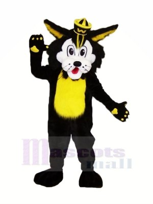 Black Wildcat Mascot Costumes Cartoon